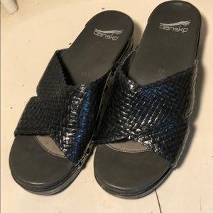 Dansko Black slides